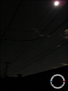 輪番停電を初めて体験した川口市上青木の写真 月がきれいだ